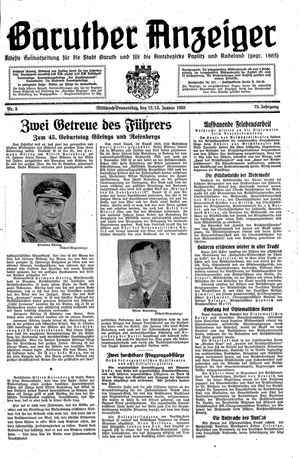 Baruther Anzeiger vom 12.01.1938