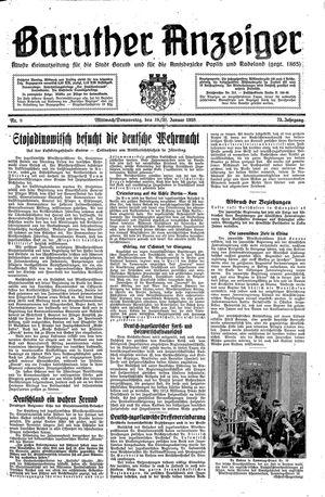 Baruther Anzeiger vom 19.01.1938