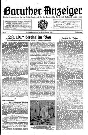 Baruther Anzeiger vom 21.01.1938
