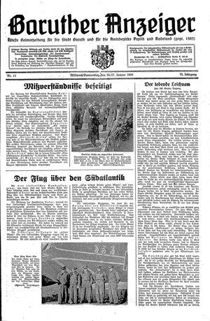 Baruther Anzeiger vom 26.01.1938
