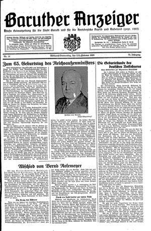 Baruther Anzeiger on Feb 2, 1938