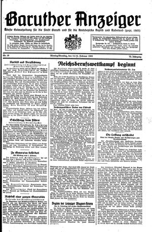 Baruther Anzeiger on Feb 14, 1938