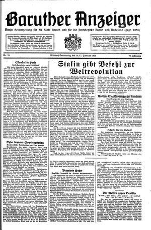 Baruther Anzeiger vom 16.02.1938