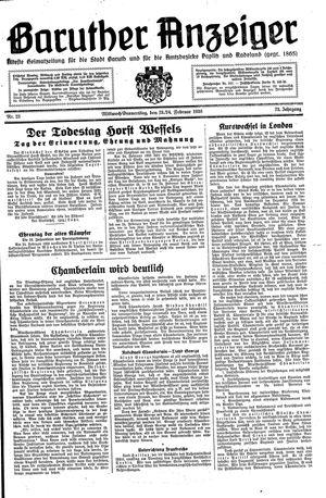 Baruther Anzeiger vom 23.02.1938