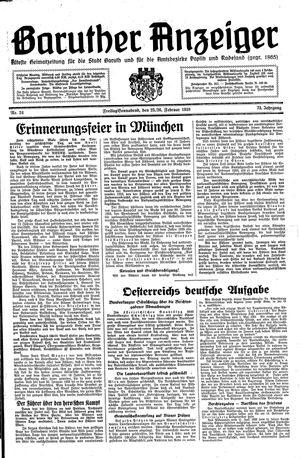 Baruther Anzeiger vom 25.02.1938