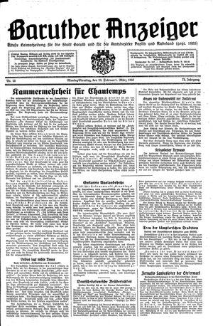 Baruther Anzeiger vom 28.02.1938
