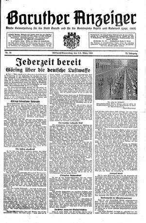 Baruther Anzeiger vom 02.03.1938