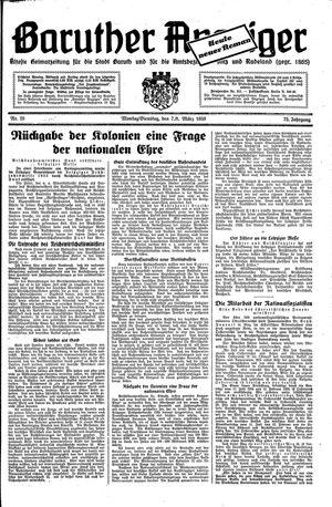 Baruther Anzeiger vom 07.03.1938