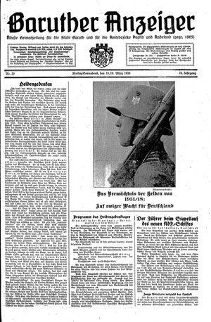 Baruther Anzeiger vom 11.03.1938