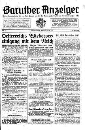 Baruther Anzeiger vom 14.03.1938