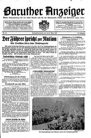 Baruther Anzeiger vom 18.03.1938