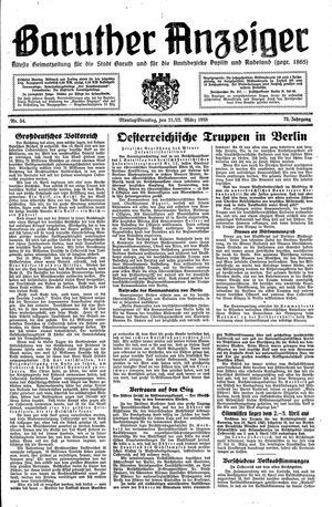 Baruther Anzeiger vom 21.03.1938