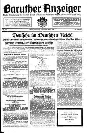 Baruther Anzeiger vom 28.03.1938