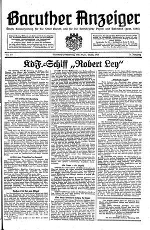 Baruther Anzeiger vom 30.03.1938