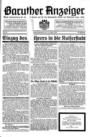 Baruther Anzeiger vom 01.04.1938
