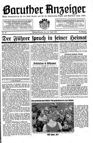 Baruther Anzeiger vom 04.04.1938