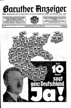 Baruther Anzeiger vom 08.04.1938
