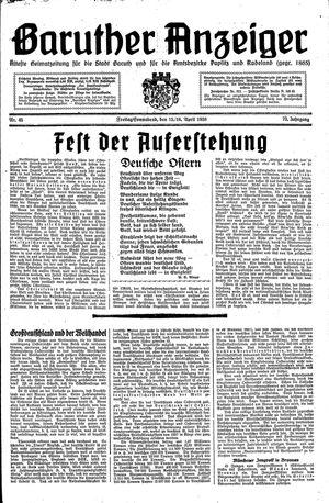 Baruther Anzeiger vom 15.04.1938
