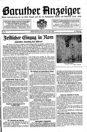 Baruther Anzeiger vom 04.05.1938