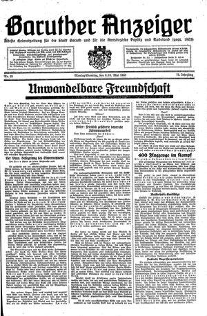 Baruther Anzeiger vom 09.05.1938