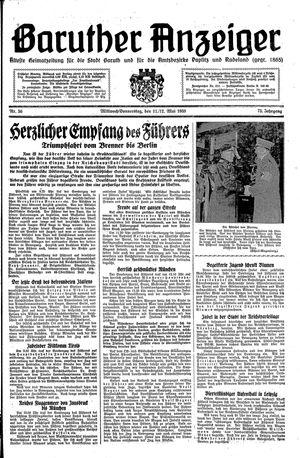 Baruther Anzeiger vom 11.05.1938