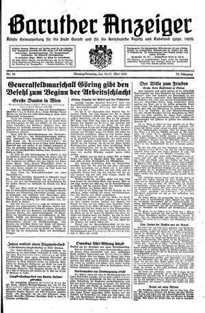 Baruther Anzeiger vom 16.05.1938