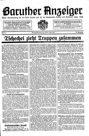 Baruther Anzeiger vom 23.05.1938