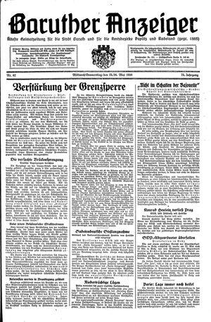 Baruther Anzeiger vom 25.05.1938