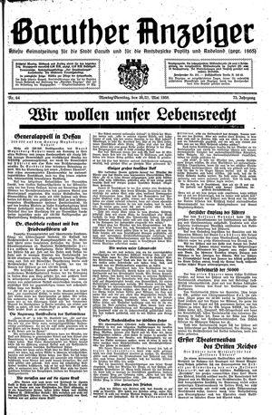 Baruther Anzeiger vom 30.05.1938