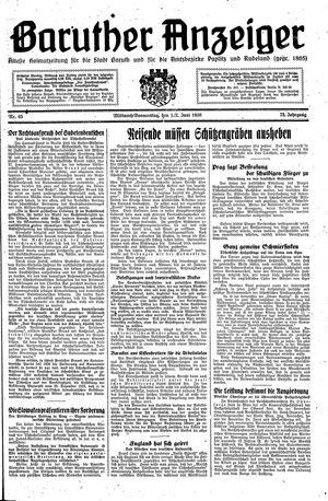 Baruther Anzeiger vom 01.06.1938
