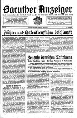 Baruther Anzeiger vom 03.06.1938