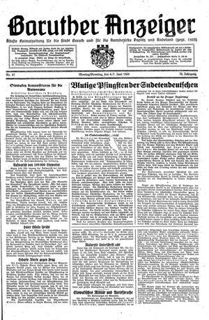 Baruther Anzeiger vom 06.06.1938