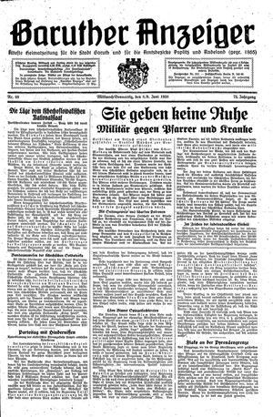 Baruther Anzeiger vom 08.06.1938