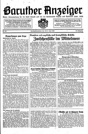 Baruther Anzeiger vom 10.06.1938