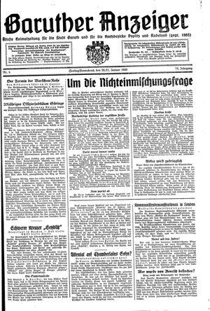 Baruther Anzeiger vom 20.01.1939