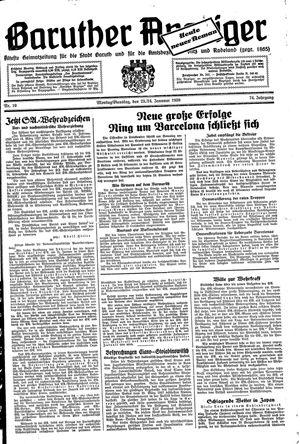 Baruther Anzeiger vom 23.01.1939