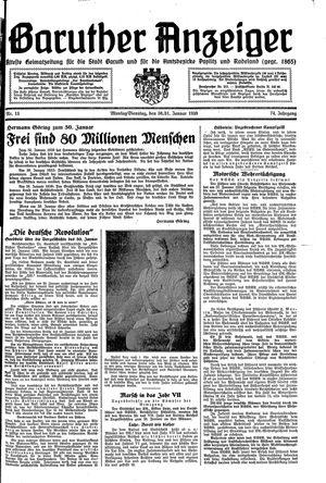 Baruther Anzeiger vom 30.01.1939