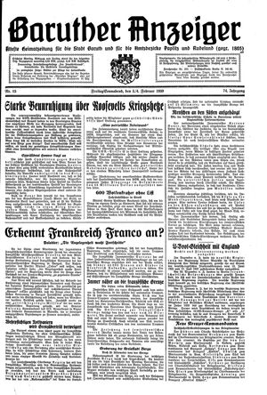 Baruther Anzeiger on Feb 3, 1939
