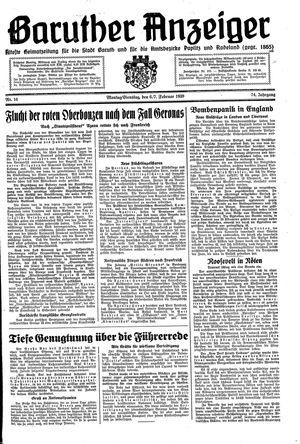 Baruther Anzeiger vom 06.02.1939