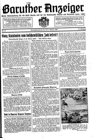 Baruther Anzeiger vom 10.02.1939
