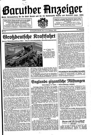 Baruther Anzeiger vom 17.02.1939