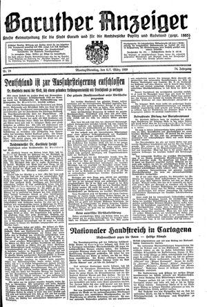 Baruther Anzeiger vom 06.03.1939