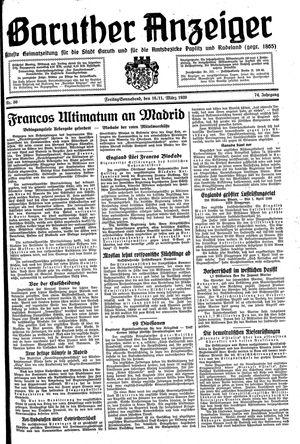 Baruther Anzeiger vom 10.03.1939