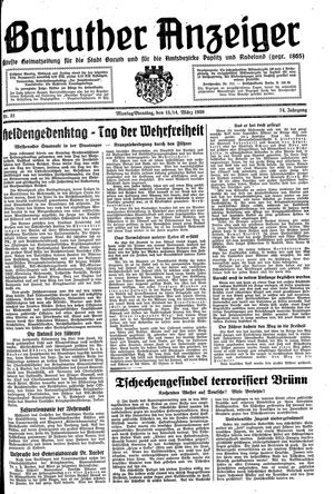 Baruther Anzeiger on Mar 13, 1939