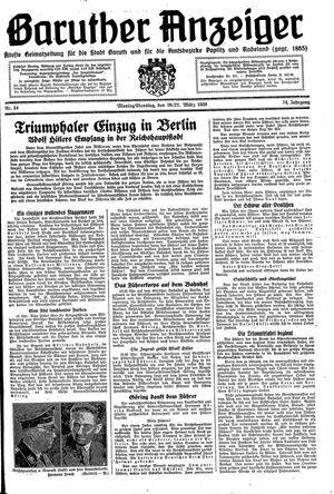 Baruther Anzeiger vom 20.03.1939