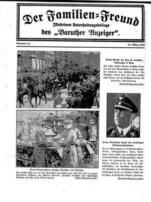 Baruther Anzeiger vom 22.03.1939
