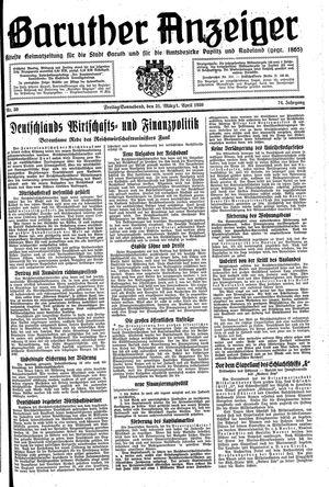 Baruther Anzeiger vom 31.03.1939