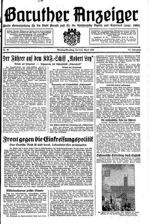 Baruther Anzeiger vom 03.04.1939