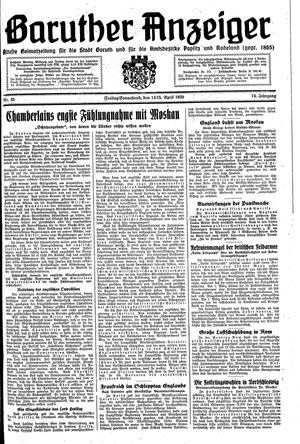 Baruther Anzeiger vom 14.04.1939