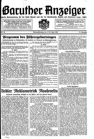 Baruther Anzeiger vom 17.04.1939